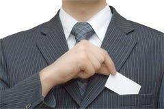 карточка v бизнесменов Стоковое Изображение RF