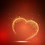 Карточка Valentines светлая Стоковое фото RF