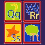 Карточки алфавита Стоковая Фотография RF