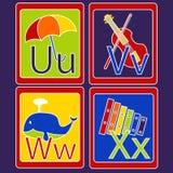 Карточки алфавита Стоковое Изображение RF