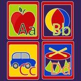 Карточки алфавита Стоковая Фотография
