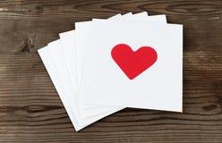 Карточки валентинки Стоковые Фотографии RF