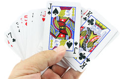 Карточки в руке Стоковое Фото