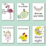 Карточки в стиле doodle Стоковое Изображение RF
