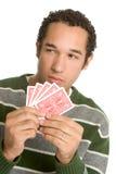 карточки держа человека стоковое изображение rf