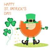 Карточки дня ` s St. Patrick вектора Стоковое Изображение RF