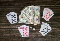 Карточки и деньги Стоковые Изображения RF