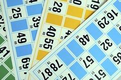 Карточки и номера Bingo Стоковые Фотографии RF