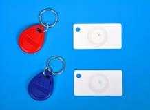 Карточки и keychain RFID Стоковое Изображение