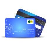 Карточки кредита в банке Стоковая Фотография