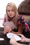 Карточки людей играя Стоковые Фото
