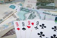 Карточки на деньгах Стоковые Изображения