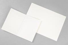 2 карточки над серебряной предпосылкой Стоковая Фотография
