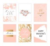 Карточки дня валентинок Стоковые Фото