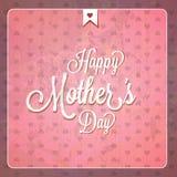 Карточки дня матерей год сбора винограда счастливые стоковое изображение