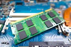 Карточки оперативной памяти для тетради Стоковые Изображения RF