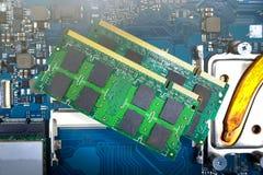 Карточки оперативной памяти для тетради Стоковые Фотографии RF