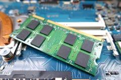 Карточки оперативной памяти для тетради Стоковое фото RF