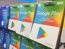 Карточки подарка игры Google Стоковые Фото