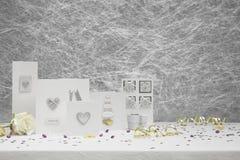 Карточки поздравлению свадьбы Стоковая Фотография