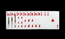 Карточки покера на черной предпосылке Стоковая Фотография