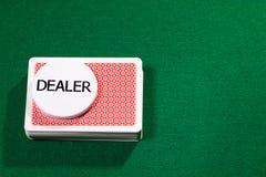 Карточки покера с обломоком торговца Стоковое Изображение
