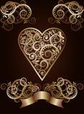 Карточки покера туза сердца играя иллюстрация штока