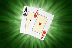 Карточки покера стоковые фото