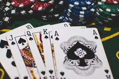 Карточки & покер обломоков стоковое фото