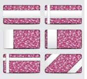 Карточки подарка sequin вектора розовые 10 eps Стоковые Фотографии RF