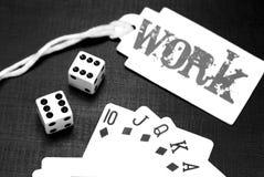 карточки предпосылки черные dices играть Стоковые Изображения RF