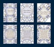 карточки приветствуя комплект Стоковые Изображения RF