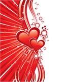 карточки приветствуя красный цвет влюбленности Стоковое фото RF