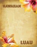 Карточки приглашения партии luau печати гаваиские Стоковые Изображения