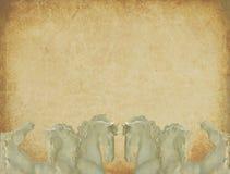 Карточки приглашения свадьбы фантазии печати с лошадями Стоковое Изображение