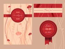 Карточки приглашения свадьбы Стоковое Изображение