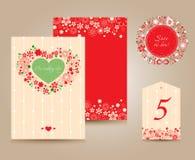 Карточки приглашения свадьбы Стоковые Фото