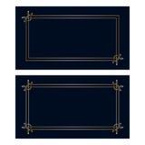 Карточки приглашения nouveau искусства вектора Стоковое Изображение RF