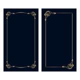 Карточки приглашения nouveau искусства вектора Стоковые Фотографии RF