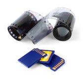 карточки снимают изолированную белизну фото памяти Стоковое Изображение RF