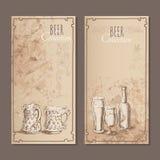 Карточки собрания пива для ресторана Стоковые Изображения RF
