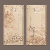 Карточки собрания пива Стоковые Изображения