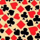 карточки состоят игрок безшовный Стоковые Изображения RF