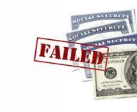 Карточки социального обеспечения для системы s отказа идентификации неудачной Стоковая Фотография RF