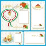 Карточки спагетти Стоковые Изображения