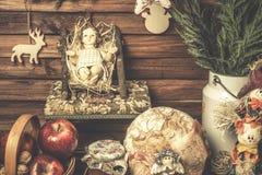 Карточки стиля Иисуса младенца затрапезные Стоковые Изображения RF