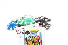 Карточки с обломоками покера Стоковое Изображение