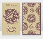 2 карточки с орнаментом madala Стоковые Фото