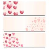 Карточки с сердцами Стоковое Фото