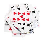 карточки топят играть покер королевский Стоковое Изображение RF